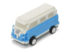 Tsuku RC Building Blocks USB Radio Control BLUE VAN for iPhone iPad for Sale - 01