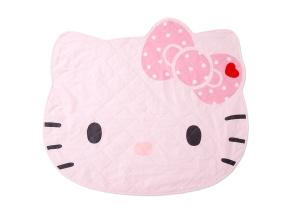 Hello Kitty Shaped Quilting Non Slip Rug Mat Carpet SANRIO JAPAN for Sale - 01