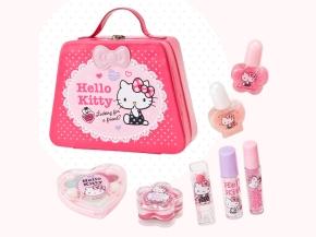Hello Kitty Kids Cosmetic Set Bag Girls Christmas Gift SANRIO JAPAN For Sale - 01