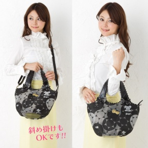 SAVOY x Hello Kitty 2 Way Shoulder Tote Bag Jacquard SANRIO JAPAN For Sale - 01