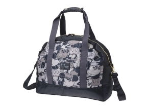 Mickey Mouse Quilting Big Boston Overnight Bag Black Disney Store JAPAN For Sale - 01