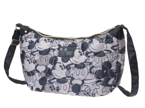 Mickey Mouse Quilting Quilted Shoulder Cross Body Bag Black Disney Store JAPAN For Sale - 01