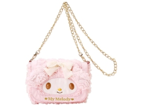 My Melody Chain Strap Shoulder Bag Chiffon SANRIO JAPAN For Sale - 01