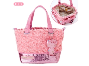 SAVOY x Hello Kitty 2 Way Shoulder Tote Bag Rose Pink SANRIO JAPAN For Sale - 01
