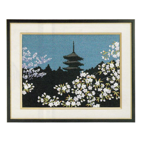 Tokyo Bunka Punch Embroidery Kit 81 Cherry Blossoms At