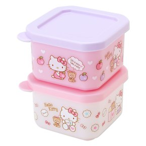 Hello Kitty Bento Lunch Case Lunchbox Tiffin Box S Set of 2 Apple SANRIO JAPAN For Sale - 01
