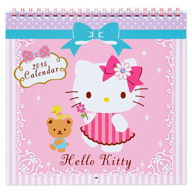 Hello Kitty Wall Calendar M Medium Size 2015 SANRIO JAPAN For Sale - 01