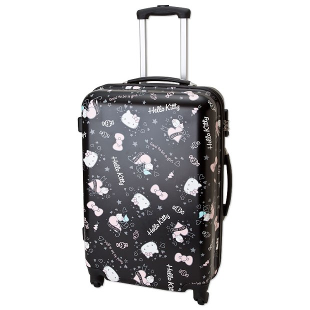 Hello Kitty Zip Around Travel Carry Bag Suitcase Star Large Size TSA SANRIO JAPAN For Sale - 01