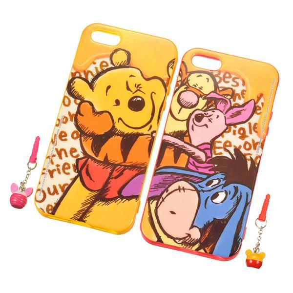 Winnie the Pooh & Friends iPhone 5 5S Case & Plug Charm Set DISNEY STORE JAPAN For Sale - 01